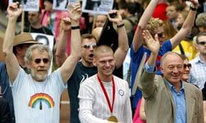 Ken Livingstone at gay pride parade