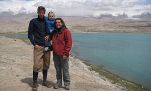 Rupert Wilson-Young, Dorothee and Oceanne in the Karakorum mountains, China
