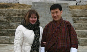 Linda Leaming and Namgay in Bhutan