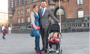 Melissa McClements with her husband and daughter in Copenhagen