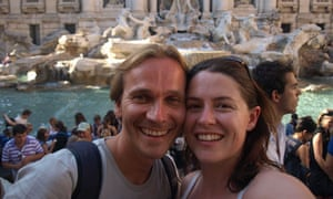 Shaney Hudson and Chris in Rome
