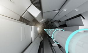 An artist's impression of the Large Hadron Collider (LHC) tunnel