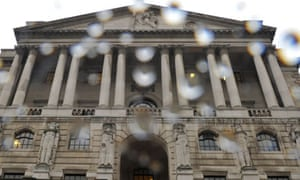 Bank of England in the rain