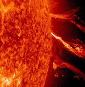 Month in space:  Sun erupted with a good-sized solar flare and a coronal mass ejection