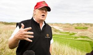 Donald Trump in Balmedie 20/6/11