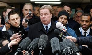 Harry Redknapp speaks outside Southwark crown court