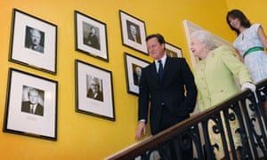 The Camerons host the Queen at Downing Street