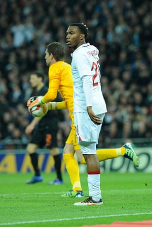 England v Holland: A disappointed Daniel Sturridge after he missed a simple chance to score
