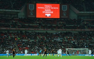 England v Holland: Daniel Sturridge is announced as man of the match