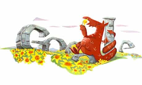 Google doodle: St David's Day dragon
