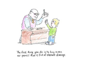 David McKee: How to Draw Elephants Page 1