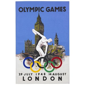Spring home trends: Olympics poster tea towel