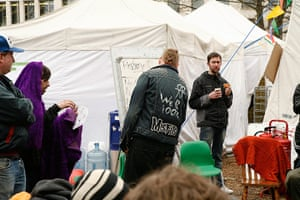 Occupy Finsbury Square: Occupiers in Finsbury Square, London, 29th February 2012
