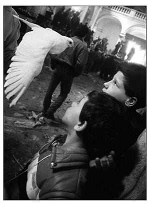 Mafia: Two boys and a dove in Trapani by Letizia Battaglia