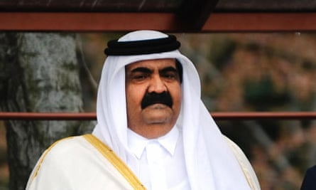 Qatari emir Sheikh Hamad bin Khalifa al-