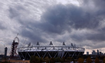 olympic stadium on cloudy day