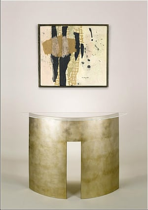 Al-Assad's shopping: Abstract curved console table from Adam Williams Design Ltd