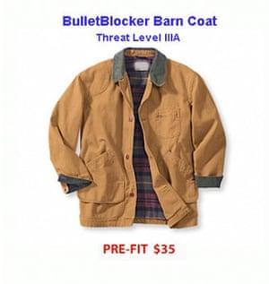 Al-Assad's shopping: BulletBlocker Barn Coat, bullet proof clothing from Bullet Blocker
