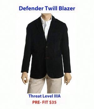Al-Assad's shopping: Defender Twill Blazer bullet proof clothing from Bullet Blocker