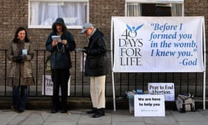40 Days for Life anti-abortion campaigners picketing a Marie Stopes family planning