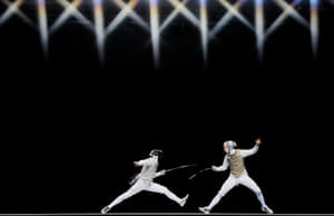 TJ SJA: Russian and GB A team fencers compete at the fencing test event