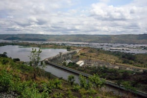 Dams:  Inga dam on the Congo River