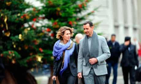 Syrian president Bashar al-Assad and his