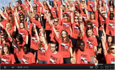 Kony crowd salute