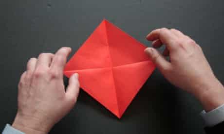 Origami step one