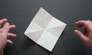 Origami step two
