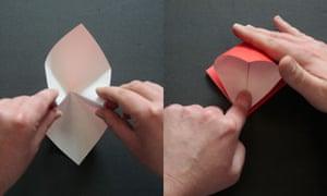 Origami step three