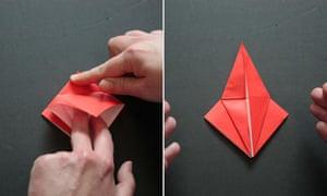 Origami step five