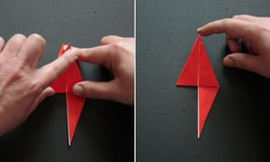 Origami step seven