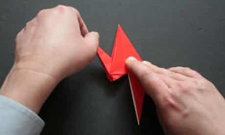 Origami step eight
