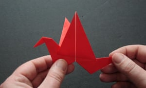 How To Make an Origami Flapping Bird I Paper Flapping Bird ... | 180x300