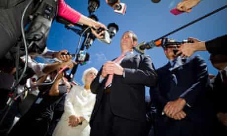 Rick Santorum Campaigns In San Juan, Puerto Rico
