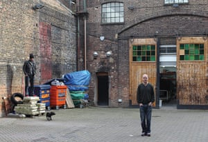 Artists: Jake and Dinos Chapman outside their studio in east london