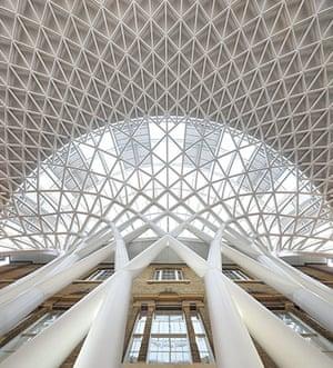 Kings Cross: metal roof at Kings Cross station