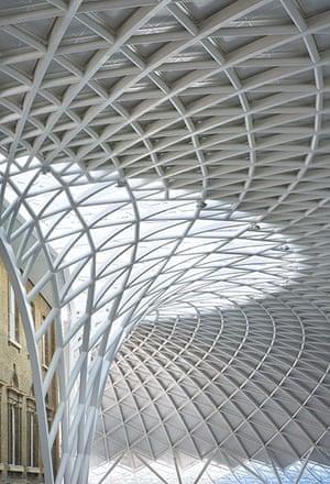 Kings Cross: detail of metal roofing at Kings Cross station