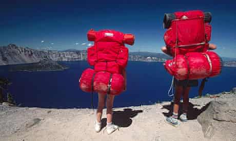Two people with rucksacks