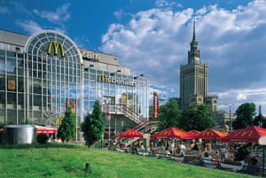 Unusual chain restaurants: McDonald's, Palace of Culture and Science, Warsaw