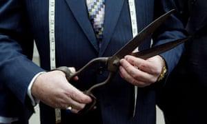 tailor with scissors