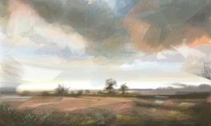 "App Art ""view of Edlington looking West"" Fraser Scarfe"