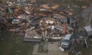 Tornado in Dexter, Michigan