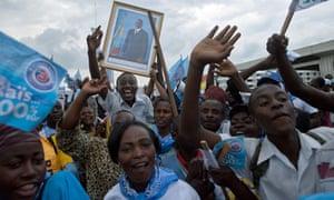 Supporters of Joseph Kabila in Goma