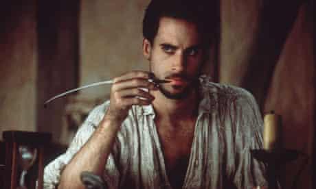 Jospeh Fiennes as the bard in Shakespeare in Love.