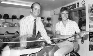 Mick Walker, left, with the motorcycle racer Barry Sheene
