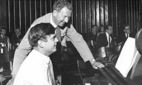 Eric Roseberry, left, with Benjamin Britten