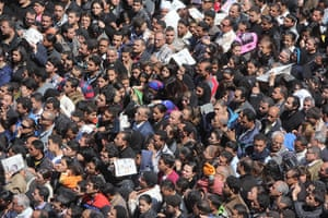 Pope Shenouda: Tens of thousands Egyptian Christians have flocked to Saint Mark's