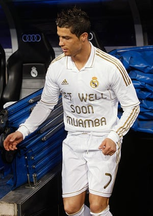 Muamba get well messages: Cristiano Ronaldo shows his support for Muamba